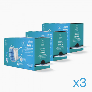 Pack x3 TYPE II Surgical...